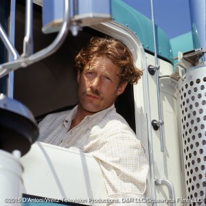 Frank Converse as Will Chandler sits in a truck cab