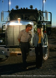 Frank and Jamie Smith-Jackson beside Kenworth