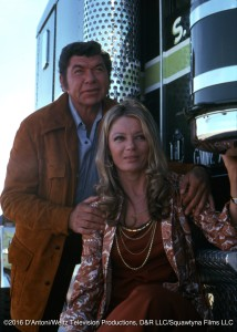 Claude and Sheree North beside Kenworth