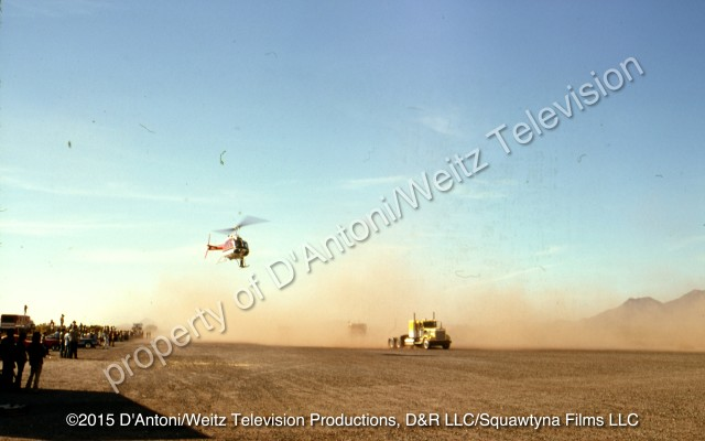 Helicopter films the truck race