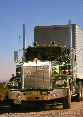 Sonny Pruitt and Will Chandler roll up in the big green Kenworth