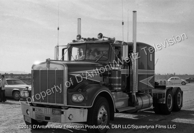 Sonny Pruitt and Will Chandler pull up in the Kenworth