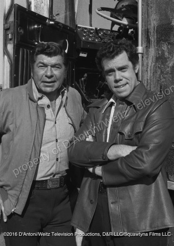 Claude Akins and John Schuck