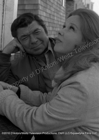 Claude Akins and Anne Francis