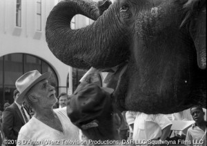 Keenan Wynn and Anna Mae the elephant