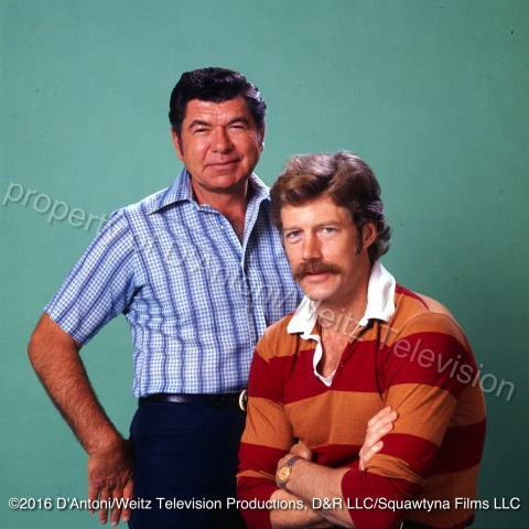 Claude Akins and Frank Converse