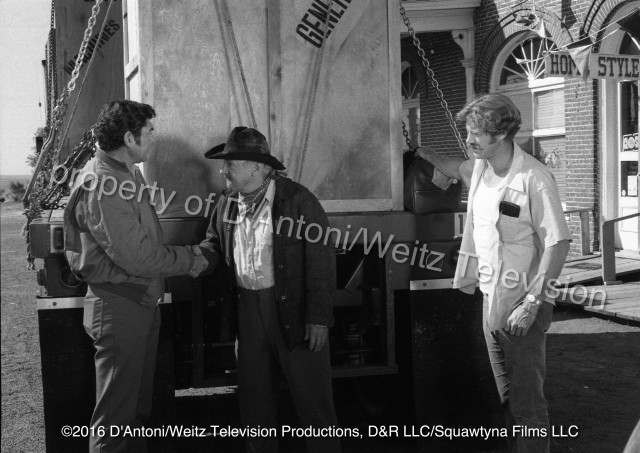 Claude Akins, John Qualen and Frank Converse