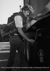 Frank Converse cranks landing gear
