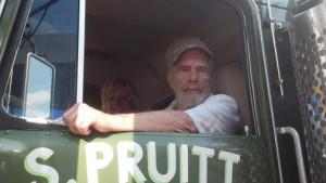 Merle Haggard in Sonny Pruitt's semi