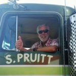 Barry in the cab of the Movin' On Kenworth for the first time in 40-years