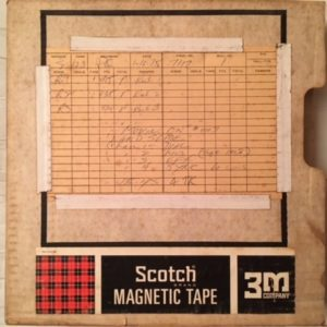 Landslide 1/2 inch audio master label