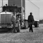 Will Chandler and Sonny Pruitt beside the Kenworth