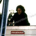 John Rubinstein atop trailer