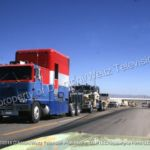 Cinemobile rig leads Kenworth 900 filming a scene for Movin' On