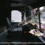 Interior of GMC Cabover known as Pigpen in Movin' On